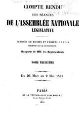 Compte rendu des séances de l'Assemblée nationale: Volume13