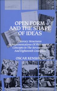 Open Form and the Shape of Ideas Book