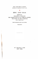 The Harvard Classics  Epic and saga  Beowulf  the song of Roland  The destruction of D   Derga s hostel  The story of the Volsungs and Niblungs PDF