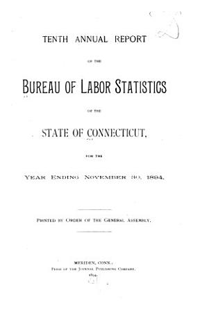 Annual Report of the Bureau of Labor Statistics  of the State of Connecticut PDF