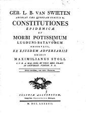 Constitutiones epidemicae et morbi potissimum Lugundi Batavorum observati