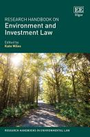 Research Handbook on Environment and Investment Law PDF