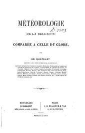 Météorologie de la belgique comparée à celle du globe