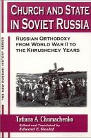Church and State in Soviet Russia PDF
