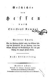 Geschichte von Hessen: Band 3,Teil 1