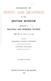 Catalogue of Prints and Drawings in the British Museum: A.D. 1761 to c. A.D. 1770