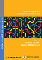 Clinical Context for Evidence based Nursing Practice PDF