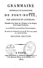 Grammaire générale et raisonnée de Port-Royal