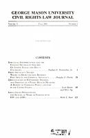 George Mason University Civil Rights Law Journal PDF