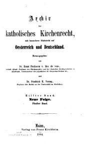 Archiv für katholisches Kirchenrecht: Bände 11-12