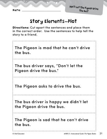 The Pigeon Books Studying the Story Elements PDF