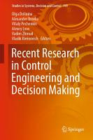 Recent Research in Control Engineering and Decision Making PDF