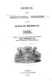 Journal of the Constitutional Convention of the state of Michigan. 1850