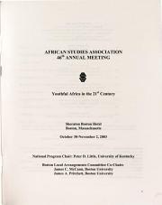 African Studies Association annual meeting   Program  PDF