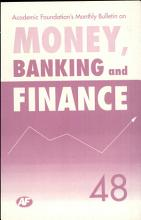 Academic Foundation S Bulletin On Money  Banking And Finance Volume  48 Analysis  Reports  Policy Documents PDF