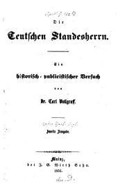 Die teutschen Standesherrn: Band 1