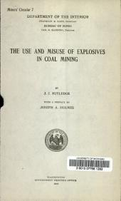 The use and misuse of explosives in coal mining