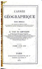 L'Année géographique: Volume11