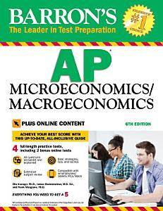 AP Microeconomics Macroeconomics with Online Tests Book