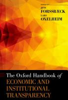 The Oxford Handbook of Economic and Institutional Transparency PDF