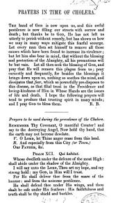 Prayers in the Time of Cholera. [Signed: R. B.]