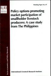 Policy Options Promoting Market Participation Of Smallholder Livestock Producers Book PDF