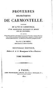 Proverbes dramatiques de Carmontelle: Volume3