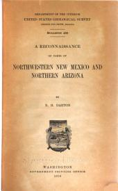 A Reconnaissance of Parts of Northwestern New Mexico and Northern Arizona