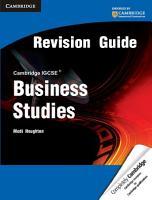 Cambridge IGCSE Business Studies Revision Guide PDF