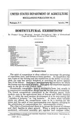 Horticultural exhibitions
