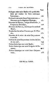 Esprit de Saint Basile, de Saint Grégoire de Nazianze et de Saint Chrysostome