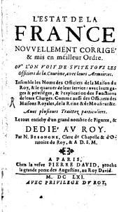L' estat de la France: Volume1