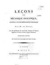 Leçons de mécanique analytique, données à l'École impériale polytechnique
