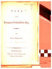 Sang paa Kongens Födselsfest 1819