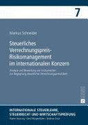 Steuerliches Verrechnungspreis Risikomanagement Im Internationalen Konzern PDF