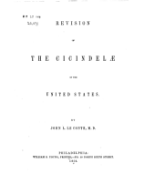 Revision of the Cicindelae of the United States