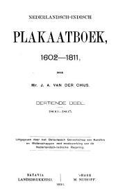 Nederlandsch-Indisch plakaatboek, 1602-1811: Deel 13
