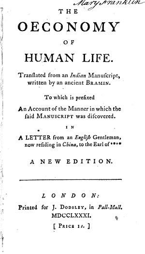 The Oeconomy of Human Life