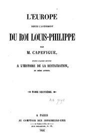 L'Europe depuis l'avènement du roi Louis-Philippe, pour faire suite à l'Histoire de la Restauration: Volume9