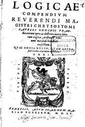 Logicae Compendium: opere ac doctrinam iuxta librorum Logicae Aristotelis ordinem ... confectum