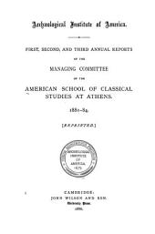 Annual Report - American School of Classical Studies at Athens: Volumes 1-10