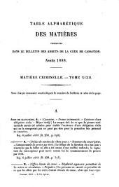 Bulletin des arrêts: Chambre criminelle, Volume93