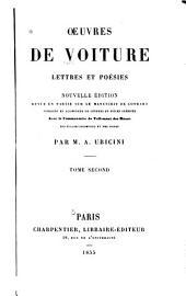 Œuvres de Voiture: Lettres et poésies, Volume2
