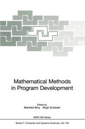 Mathematical Methods in Program Development