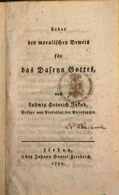 Über den moralischen Beweis für das Daseyn Gottes