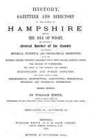 History  Gazetteer and Directory of the County of Hampshire PDF