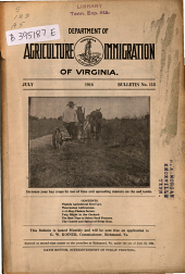 Bulletin - Virginia Department of Agriculture and Immigration: Issue 113