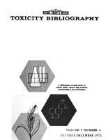 Toxicity Bibliography PDF
