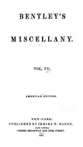 Bentley's Miscellany: Volume 7