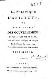 La politique d'Aristote ou la science des gouvernemens: Volume2